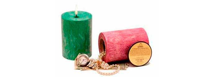Caja Camuflada con forma de vela